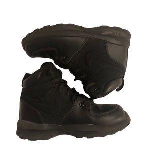 Kids' Nike AGC Black Manoa Leather/Textile Boots